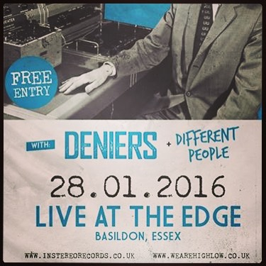 We are doing a very intimate album launch gig at @the_edge_basildon on the 28th January. With 'Different People' and @wearedeniers. Come down and grab and album at pre order prices. #altrock #liveband #livebands #essex #basildon #theedge #autospy #albumnumber2