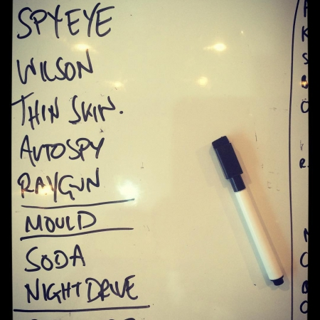 We played a couple of gigs lately. This was our set. #setlist #gigs #bands #altrock #grunge